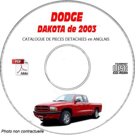 DAKOTA 2003 Catalogue Pièces CDROM DODGE Anglais