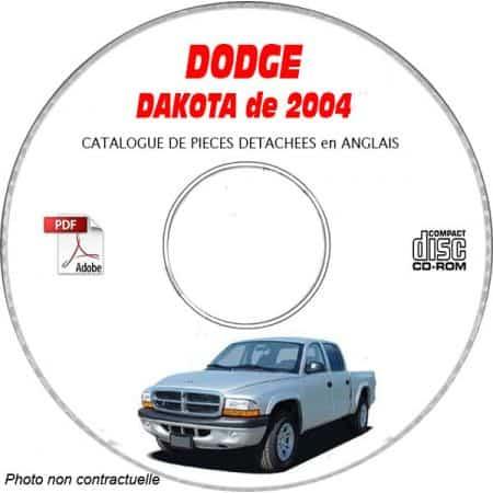 DAKOTA 2004 Catalogue Pièces CDROM DODGE Anglais