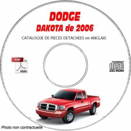 DAKOTA 2006 Catalogue Pièces CDROM DODGE Anglais