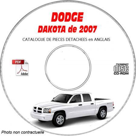 DAKOTA 2007 Catalogue Pièces CDROM DODGE Anglais
