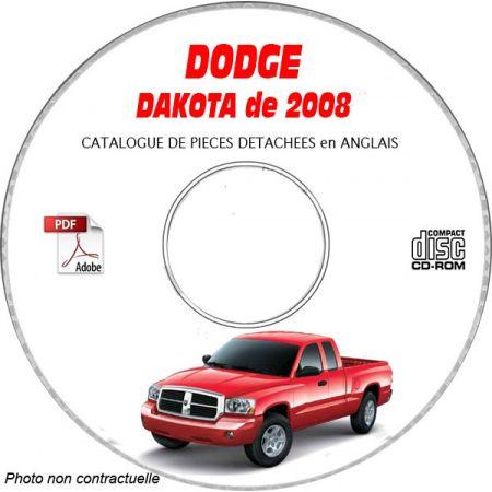 DAKOTA 2008 Catalogue Pièces CDROM DODGE Anglais
