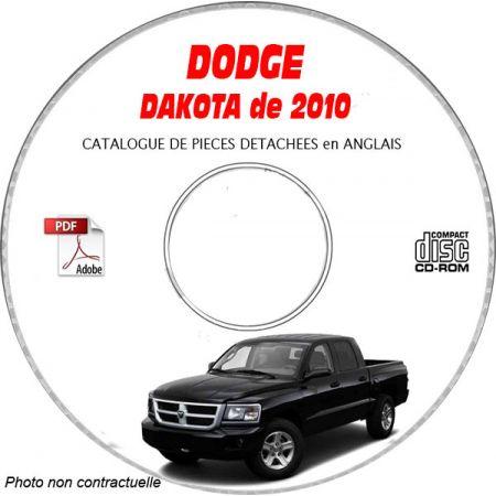 DODGE DAKOTA de 2010 Type ND, Sport, Laramie, SLT, ST, SXT Catalogue des Pièces Détachées sur CD-ROM anglais