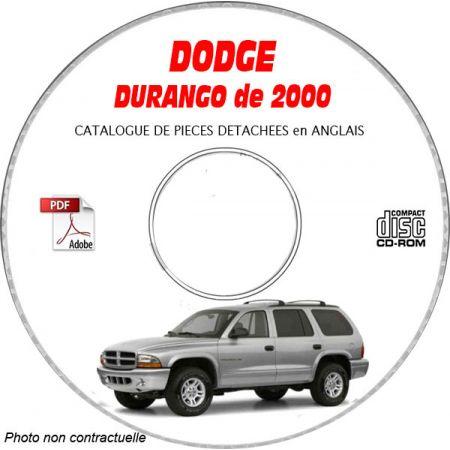 DURANGO 00 Catalogue Pièces CDROM DODGE Anglais