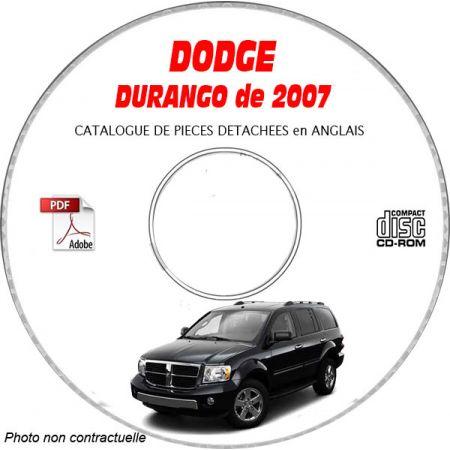 DURANGO 07 Catalogue Pièces CDROM DODGE Anglais