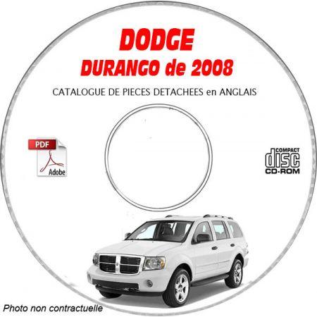 DURANGO 08 Catalogue Pièces CDROM DODGE Anglais
