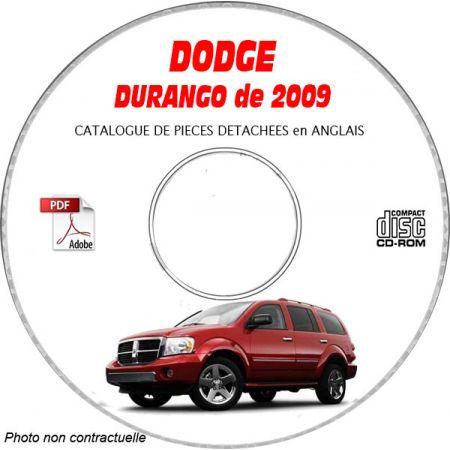 DURANGO 09 Catalogue Pièces CDROM DODGE Anglais