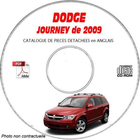 DODGE JOURNEY de 2009 TYPE JC : SE + R/T + SXT Catalogue des Pièces Détachées sur CD-ROM Anglais