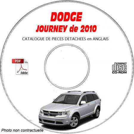 JOURNEY 10 Catalogue Pièces CDROM DODGE Anglais