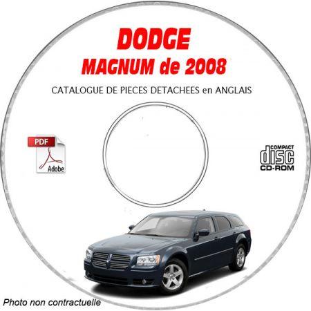 DODGE MAGNUM de 2008 TYPE LX Catalogue des Pièces Détachées sur CD-ROM Anglais