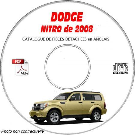 NITRO 08 Catalogue Pièces CDROM DODGE Anglais