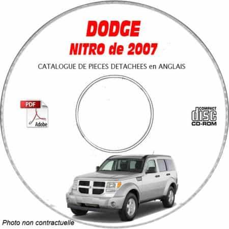 DODGE NITRO de 2007 Type KA SLT Catalogue des Pièces Détachées sur CD-ROM Anglais