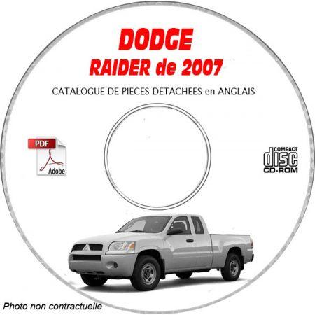 DODGE RAIDER de 2007 Type NM LS, XLS, DUROCROSS Catalogue des Pièces Détachées sur CD-ROM Anglais