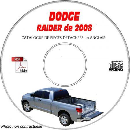 DODGE RAIDER de 2008 Type NM LS XLS DUROCROSS Catalogue des Pièces Détachées sur CD-ROM anglais