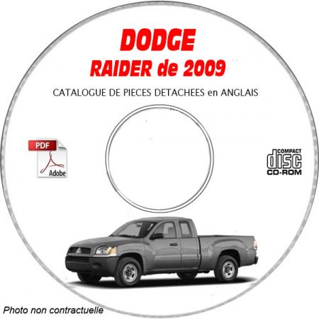 DODGE RAIDER de 2009 Type NM LS XLS DUROCROSS Catalogue des Pièces Détachées sur CD-ROM Anglais