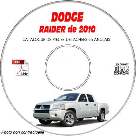 RAIDER 2010 Catalogue Pièces CDROM DODGE Anglais