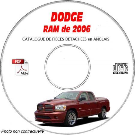 DODGE RAM de 2006 Type DR 1500 Catalogue des Pièces Détachées sur CD-ROM Anglais
