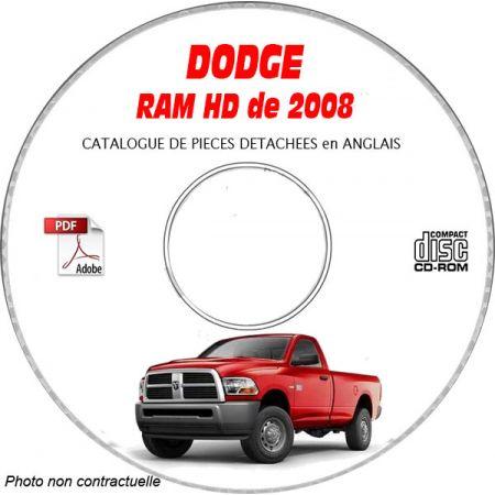 DODGE RAM HEAVY DUTY 2008 Type D1 Catalogue des Pièces Détachées sur CD-ROM anglais