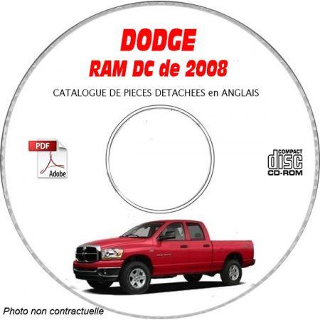 DODGE RAM DC 2008 Type DC 3500 Catalogue des Pièces Détachées sur CD-ROM anglais