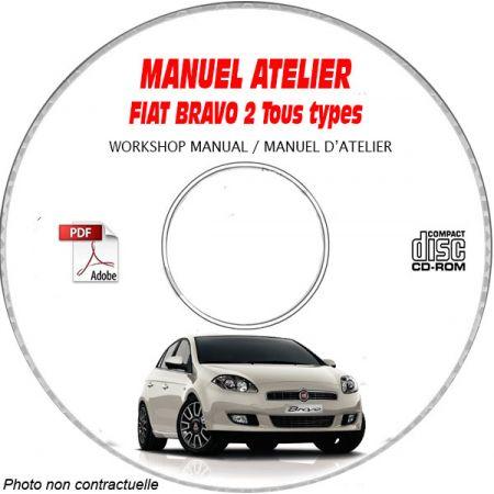 FIAT BRAVO 2  Type : ZFA198........  Manuel d'Atelier sur CD-ROM FR