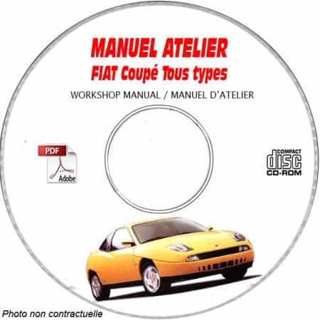 FIAT COUPE  Type : ZFA175........  Manuel d'Atelier sur CD-ROM Anglais