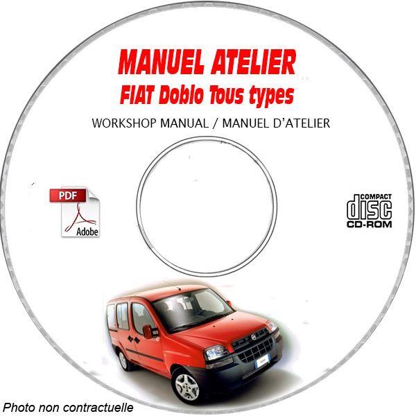 FIAT DOBLO Phase 1 Tous Types TYPE CHASSIS: ZFA233......  Manuel d'Atelier sur CD-ROM FR