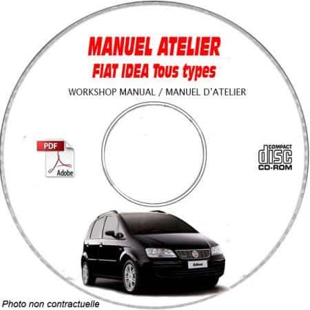 FIAT IDEA Tous types TYPE CHASSIS: ZFA350...... Manuel d'Atelier sur CD-ROM FR