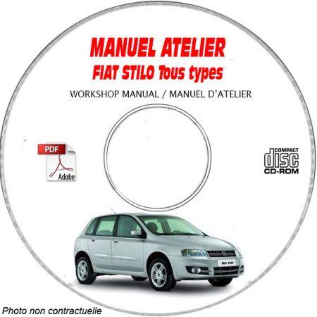 FIAT STILO Tous types TYPE CHASSIS: ZFA192......  Manuel d'Atelier sur CD-ROM