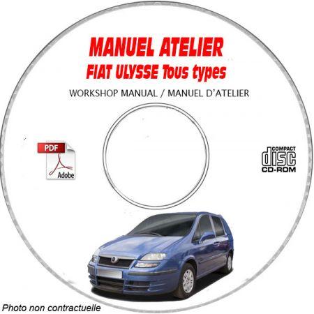 FIAT ULYSSE TYPE CHASSIS: ZFA179......  Manuel d'Atelier sur CD-ROM