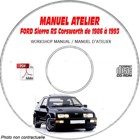 Sierra RS 86-93 - Manuel Atelier CDROM FORD Anglais