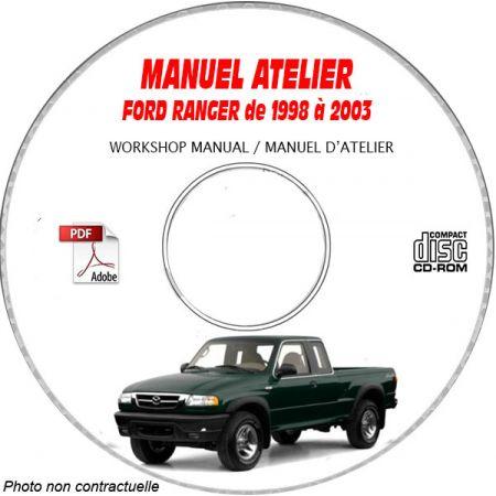 FORD RANGER de 1998 à 2003 Manuel d'Atelier sur CD-ROM anglais