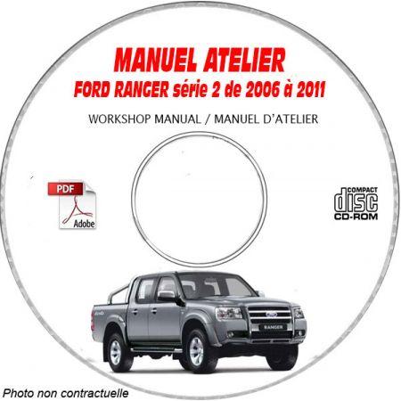 FORD RANGER série 2 de 2006 à 2011 Manuel d'Atelier sur CD-ROM anglais