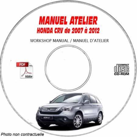 HONDA CRV LX, EX, E-XL Type SJ6 de 2007 à 2012 Types : RE3 + RE4 Manuel d'Atelier sur CD-ROM anglais