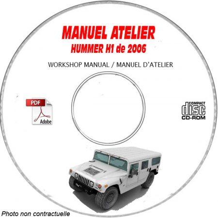 HUMMER H1 de 2006 Manuel d'Atelier sur CD-ROM anglais