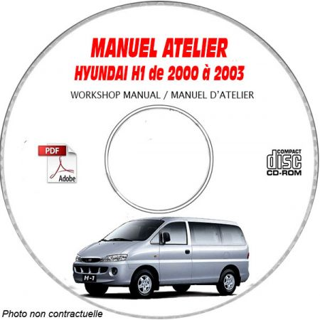 HYUNDAI H1 de 2000 a 2003 Manuel d'Atelier sur CD-ROM anglais
