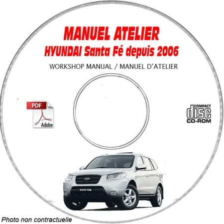 HYUNDAI SANTA-FE depuis 2006 Manuel d'Atelier sur CD-ROM anglais
