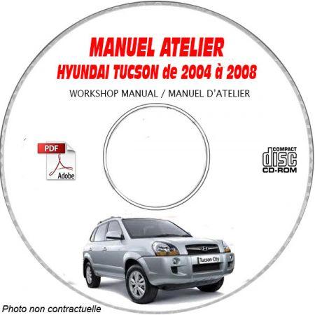 HYUNDAI TUCSON de 2004 à 2008 Phase 1 Manuel d'Atelier sur CD-ROM anglais