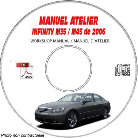 INFINITI M35 et M45 de 2006 TYPE  Y50   Manuel d'Atelier sur CD-ROM Anglais