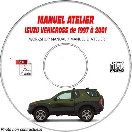 ISUZU VEHICROSS de 1997 A 2001 Type : JACCN57X... Manuel d'Atelier sur CD-ROM Anglais