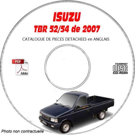 ISUZU TBR 52/54 de 2007 Type : TBR54F Catalogue des Pièces Détachées sur CD-ROM anglais