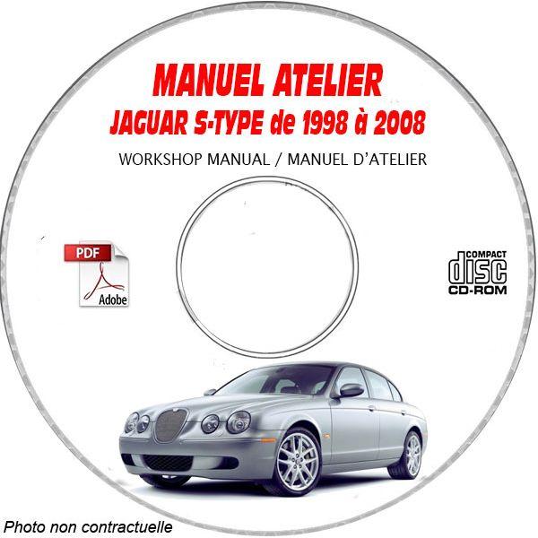 JAGUAR S-TYPE de 1998 a 2008  Manuel Atelier  sur CD-ROM Anglais