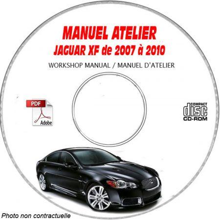 JAGUAR XF de 2007 à 2010 Type : X250 Manuel Atelier sur CD-ROM Anglais