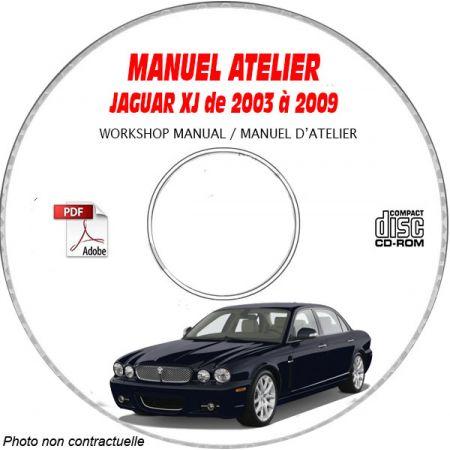 JAGUAR XJ de 2003 a 2009 TYPE X350 Manuel Atelier sur CD-ROM Anglais