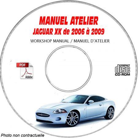 JAGUAR XK de 2006 a 2009 TYPE X150 Manuel Atelier sur CD-ROM anglais