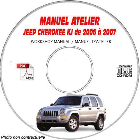 JEEP CHEROKEE KJ -LIBERTY de 2006 à 2007 Manuel d'Atelier sur CD-ROM Anglais
