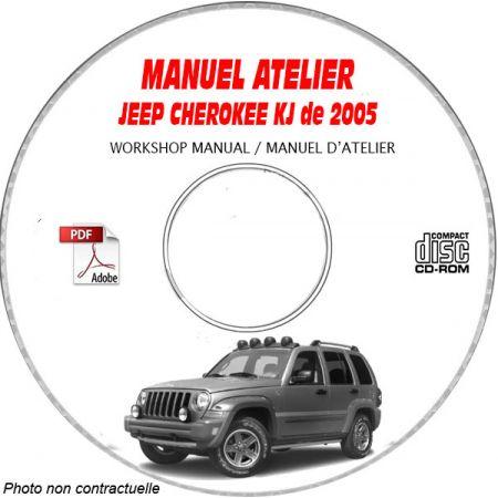 JEEP CHEROKEE KJ -LIBERTY de 2005 Manuel d'Atelier sur CD-ROM Anglais