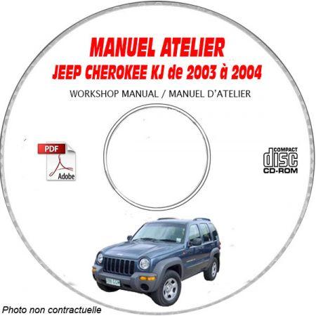 JEEP CHEROKEE - lIBERTY KJ de 2003 à 2004 Type KJ Sport, Limited Manuel d'Atelier sur CD-ROM Anglais
