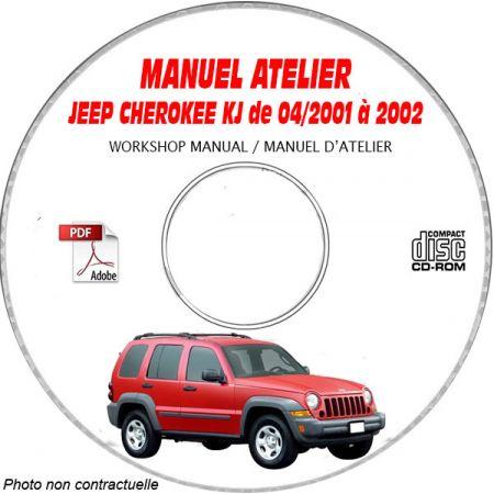 JEEP CHEROKEE LIBERTY KJ de 04/2001 à 2002 Type KJ Sport, Limited Manuel d'Atelier sur CD-ROM Anglais