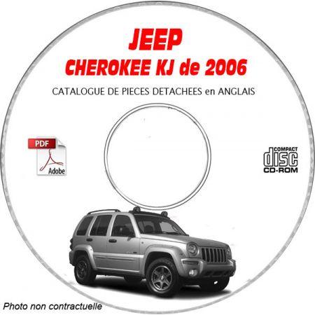 JEEP CHEROKEE - LIBERTY KJ de 2006 Type : RENEGADE + SPORT + LIMITED Catalogue des Pièces Détachées sur CD-ROM Anglais