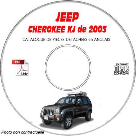 JEEP CHEROKEE - LIBERTY KJde 2005 Type : RENEGADE + SPORT + LIMITED Catalogue des Pièces Détachées sur CD-ROM anglais