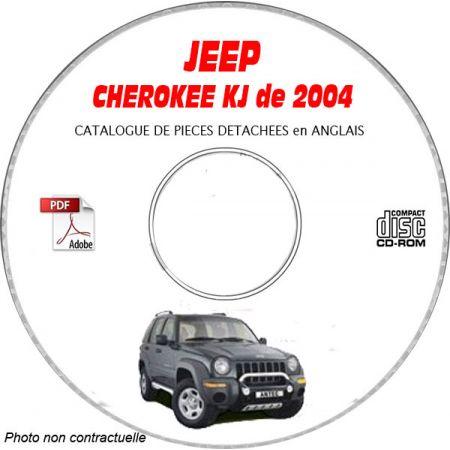 JEEP CHEROKEE - LIBERTY KJ de 2004 Type : RENEGADE + SPORT + LIMITED Catalogue des Pièces Détachées sur CD-ROM anglais